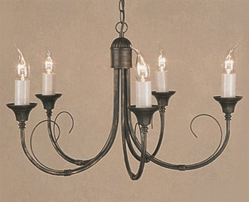 Lune  Original 5Light Blk/Gld, Nickel