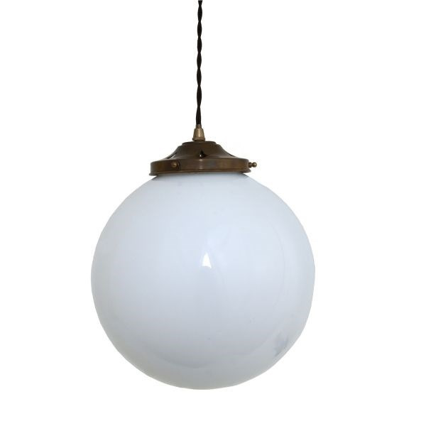 30cm, Pendant Light Cast Brass