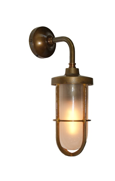 Wall Light in Antique Brass