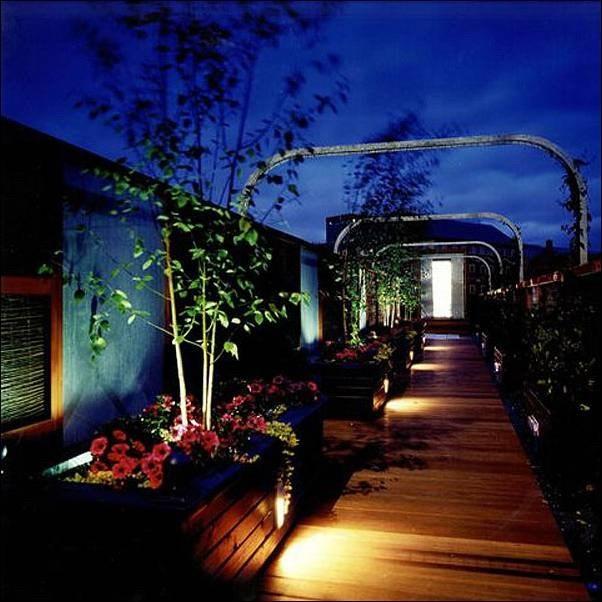 rooftop lighting. BBC Rooftop Garden, Belfast Lighting E