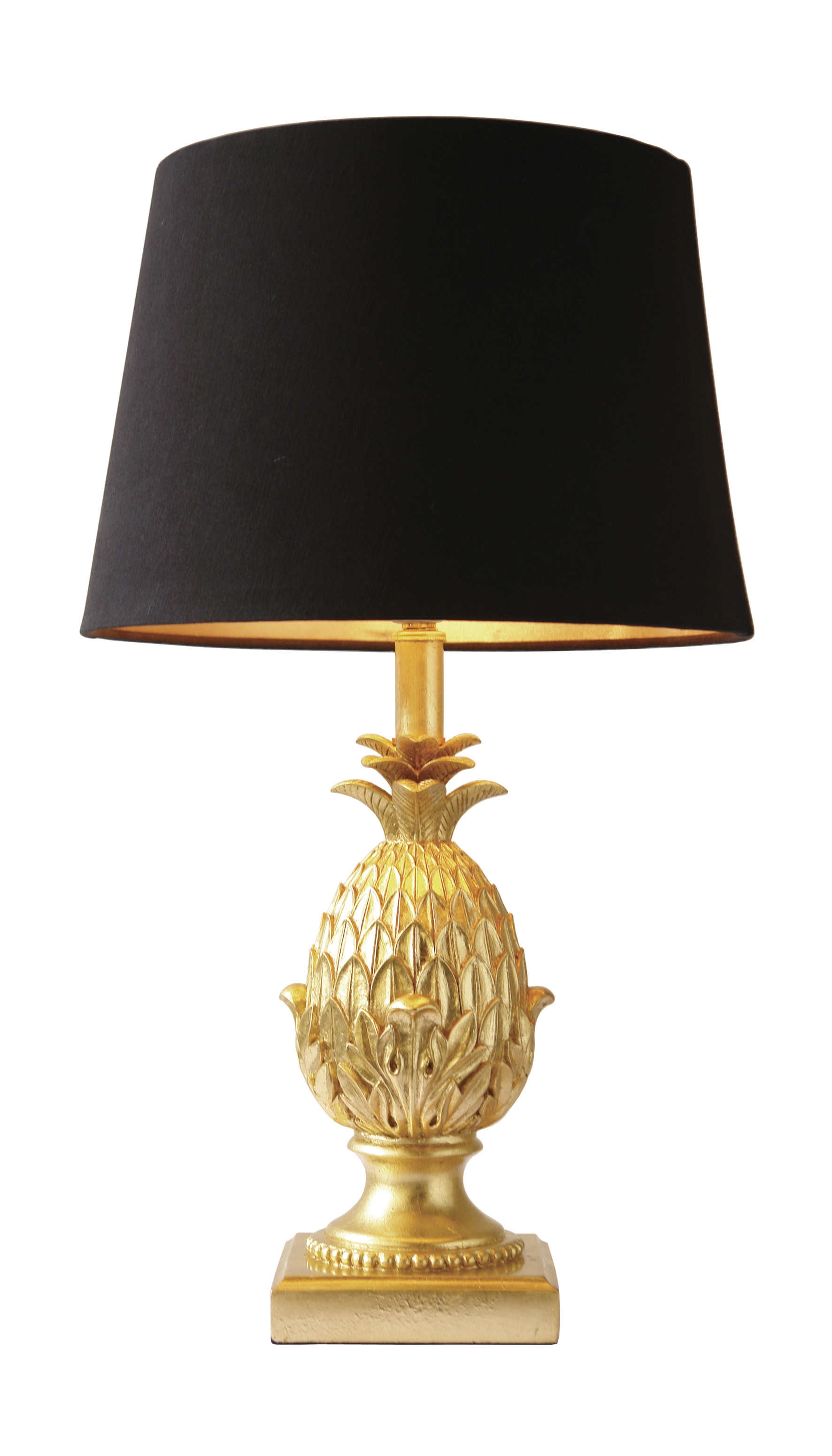 Belas pineapple striking pineapple shaped gold base table - Grande lampe de salon ...